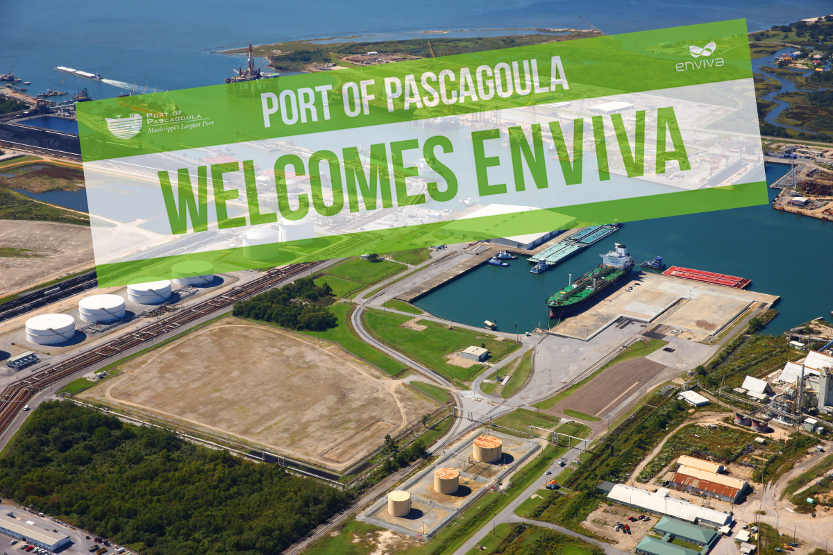 Port of Pascagoula and Enviva Break Ground on Wood Pellet Export Terminal